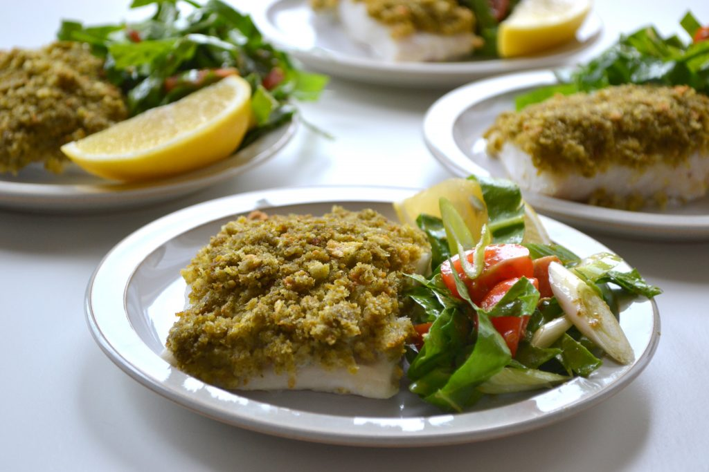 Pesto Crusted Fish Fillet Ilovecooking