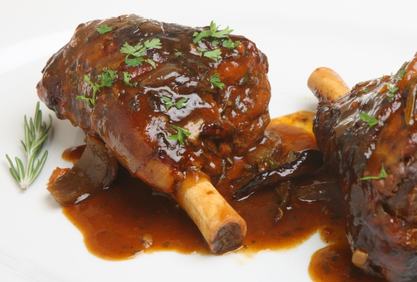 lamb shanks in gravy ilovecooking