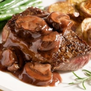 steak and mushroom sauce