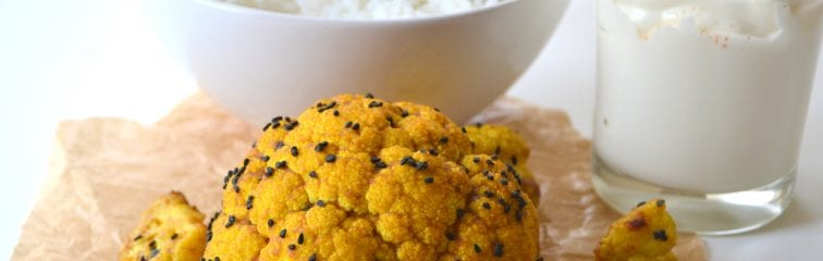 Indian spiced cauliflower; vegetable