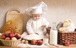 kids cooking section; i love cooking