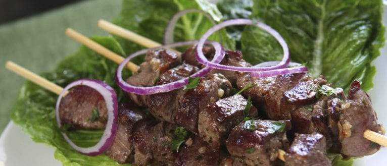 lamb souvlaki; lamb recipe