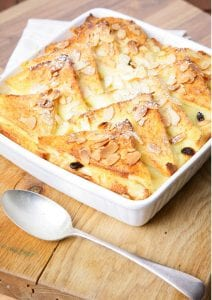 White Chocolate Bread and Butter Pudding; dessert recipe; dinner party dessert; edward hayden recipe; i love cooking