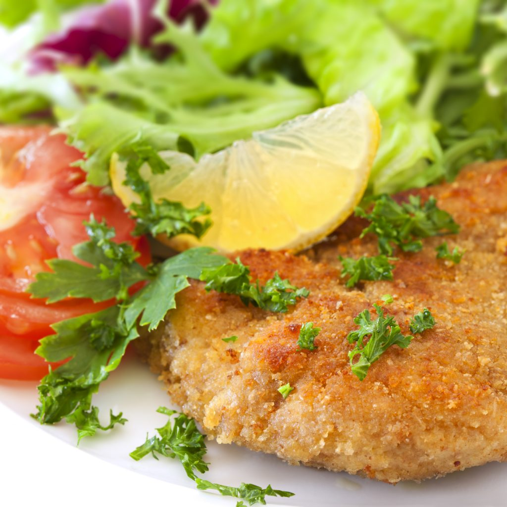 Chicken Schnitzel with Capers & Lemon - ILoveCooking