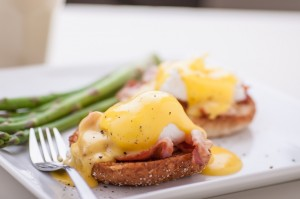 eggs Benedict; breakfast; brunch