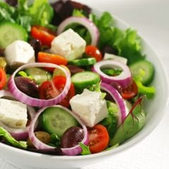 greek salad; healthy