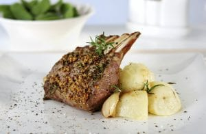crusted rack of lamb; lamb recipes; mains