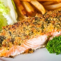 salmon with crust