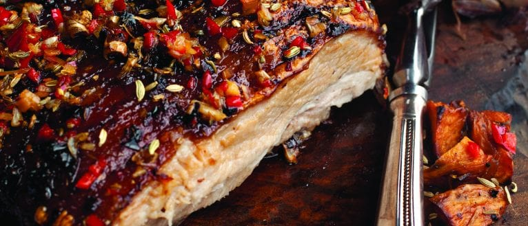 Pork Belly recipe; Catherine Fulvio pork belly recipe; The weekend chef