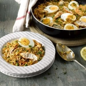 Smokey Paprika Chicken with Rice and Eggs