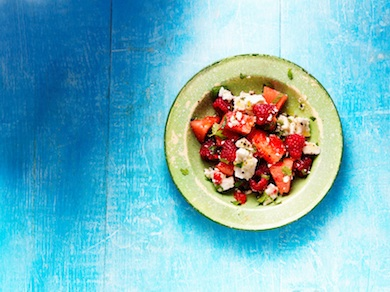 Raspberry, Watermelon & Feta Salad