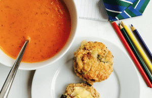 Tomato Soup and Italian Scones