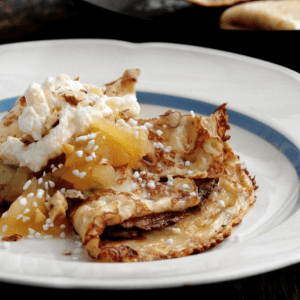 Siúcra's Apple Compote and Lemon Cream Pancake