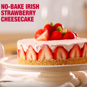 Keelings Irish Strawberry Cheesecake I Love Cooking www.ilovecooking.ie