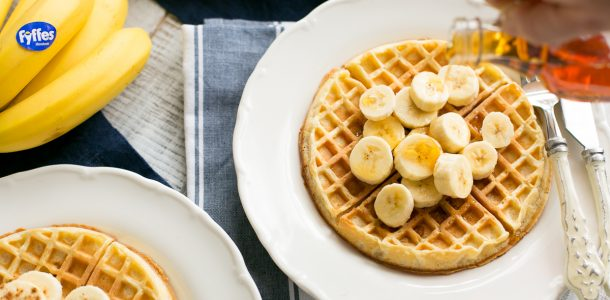 Fyffes Banana Waffles, banana recipes, i love cooking, www.ilovecooking.ie