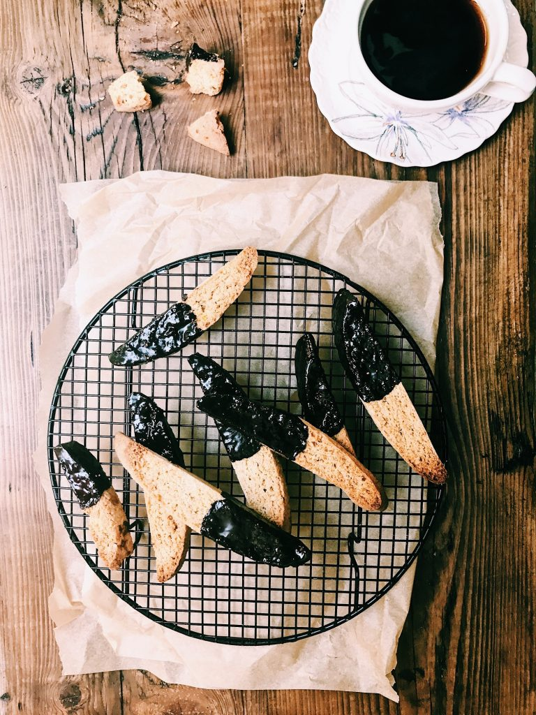 Almond Coffee Chocolate Biscotti recipe, Clodagh McKenna, I Love Cooking, www.ilovecooking.ie