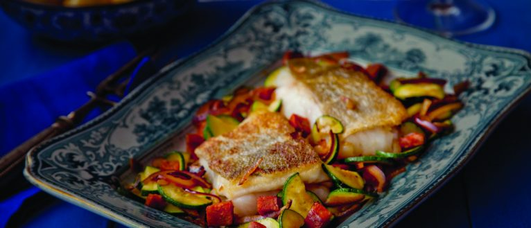 Supervalu crispy_cod_courgette_red_onion_&_chorizo, fish recipe, i love cooking, i love cooking ireland