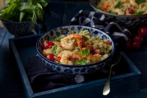 Supervalu Kevin Dundons quinoa_and_basil_pesto_with_warm_chilli_sauteed_prawns, fish recipe, i love cooking, i love cooking ireland