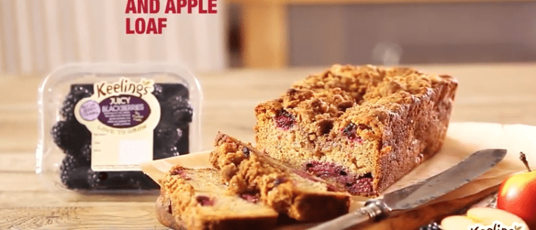 Keelings Blackberry Apple Loaf recipe, I love cooking, www.ilovecooking.ie