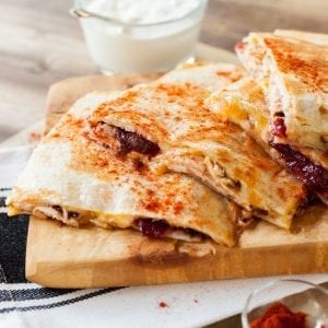 Fire & Smoke Turkey Cranberry Quesadilla, Denny, Christmas recipe, turkey, i love cooking, i love cooking ireland