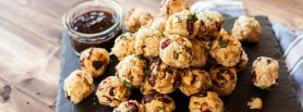 Fire & Smoke BBQ Smoked Chicken Stuffing Balls