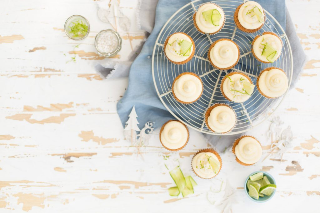 Gin & Tonic Cupcakes, I Love Cooking Ireland, Christmas Baking recipes, baking