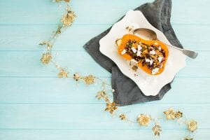 Quinoa Cranberry Stuffed Butternut, vegetarian