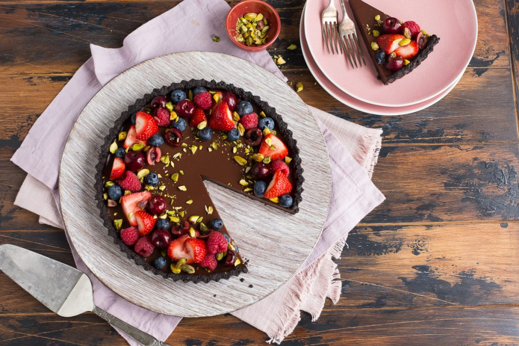 Chocolate Berry Tart, Chocolate recipe, easy dessert recipe, I Love Cooking ireland