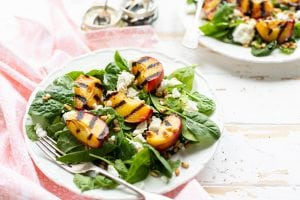Grilled Peach Feta Salad, healthy salads, I Love Cooking Ireland, salad recipes, Irish recipe website