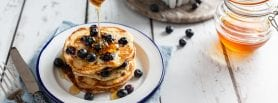 Blueberry Sourdough Pancakes, sourdough pancakes, sourdough recipes, I love cooking ireland recipes