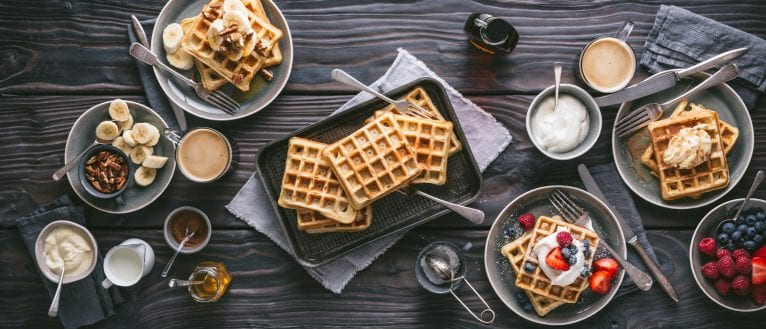 Sourdough Waffles, I Love Cooking recipes, waffles, sourdough