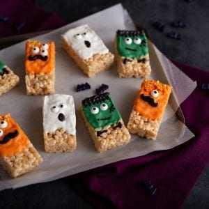 Halloween Krispie Treats, I Love Cooking Ireland, Irish Recipe website, halloween treats, halloween recipe, kids halloween recipes