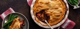 Beef & Mushroom Pie, beef pie, mushroom pie, pie recipe, comfort food, i love cooking ireland, family recipes