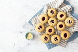 Thumbprint cookies, cookies, kids recipes, i love cooking, i love cooking ireland, baking with kids recipe