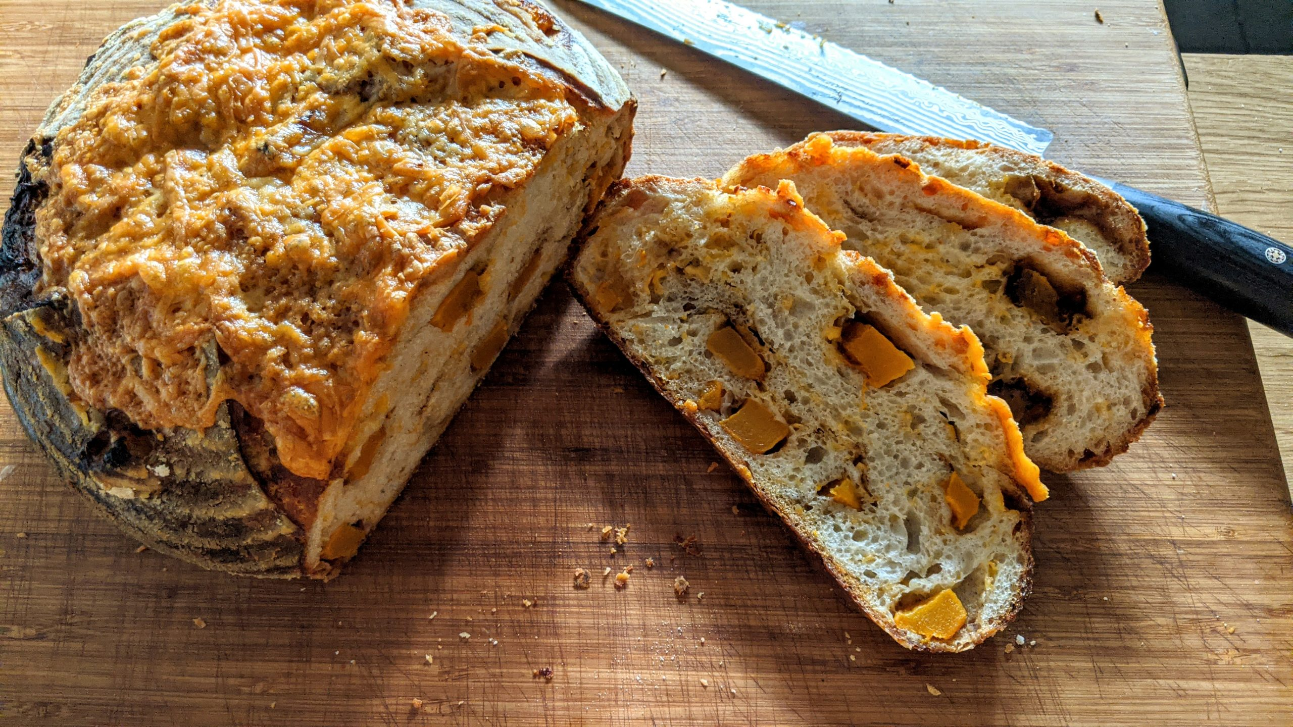 Spiced Pumpkin, Cheddar & Roasted Garlic Sourdough, Sourdough recipe, Patrick Ryan, I Love Cooking, bread recipes