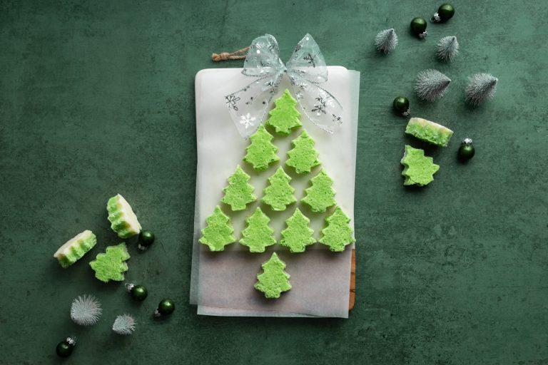 Coconut Ice Christmas Trees